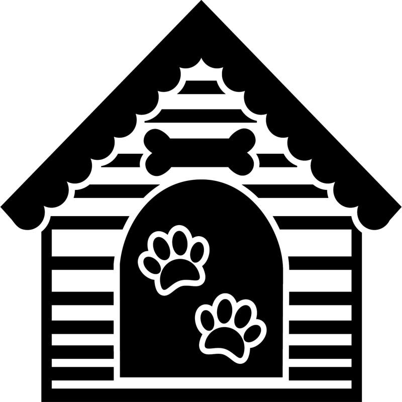 Sticker niche de chien