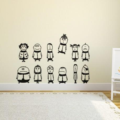 Sticker design famille
