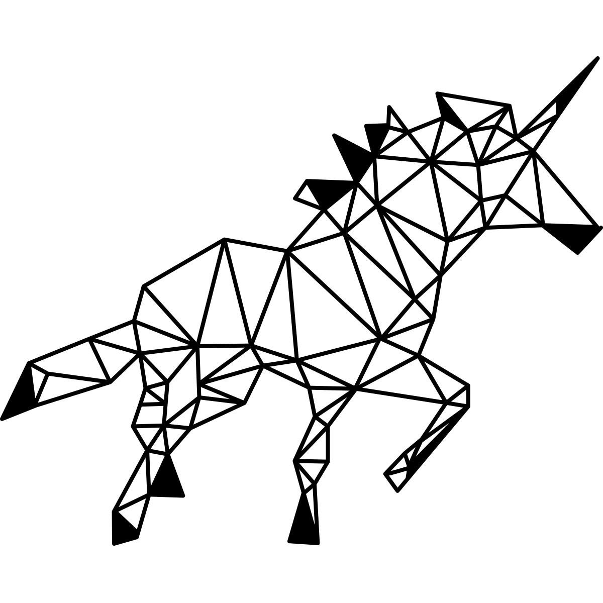 Sticker Licorne En Forme Geometrique