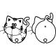 Sticker chat vu de profil et de dos