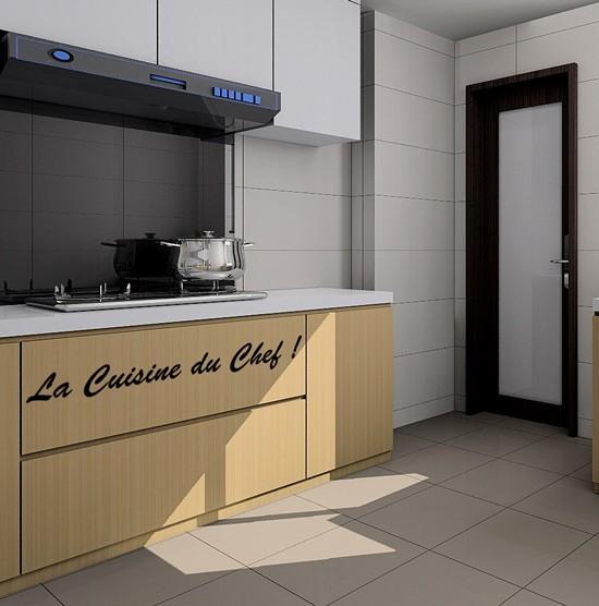 sticker la cuisine du chef - stickers citation & texte - opensticker