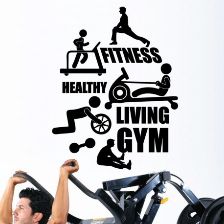 Sticker fitness, healthy, living gym