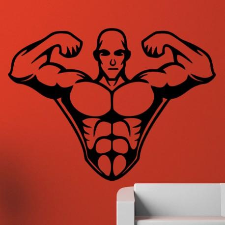 Sticker homme musclé 2