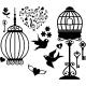Sticker cages et oiseaux chanteur