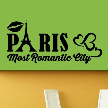 Sticker Paris most romantic city