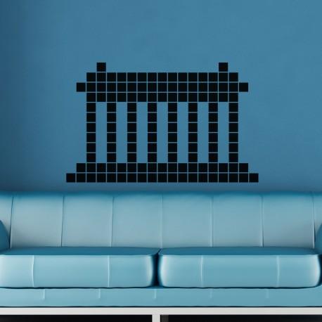 Sticker colonnes en pixel