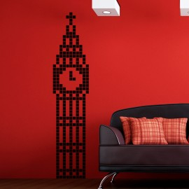 Sticker big ben en pixel