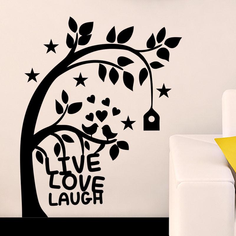 sticker live love laugh. Black Bedroom Furniture Sets. Home Design Ideas