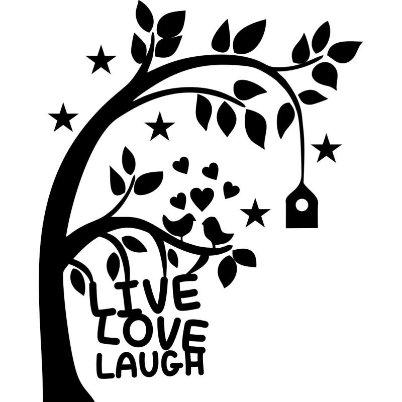 Couleur Chambre Garcon Adolescent : Sticker live love laugh