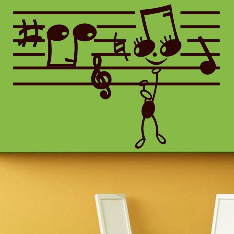 Deco Chambre Geek : Sticker notes de musique