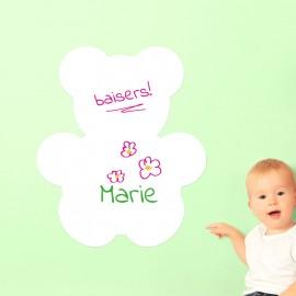 Sticker tableau blanc ourson