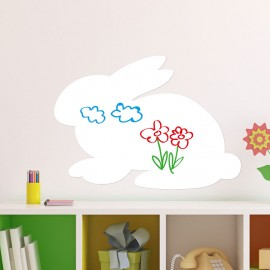 Sticker tableau blanc lapin