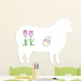 Sticker tableau blanc mouton
