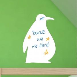 Sticker tableau blanc pingouin