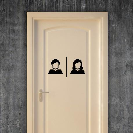 Sticker toilette homme et femme