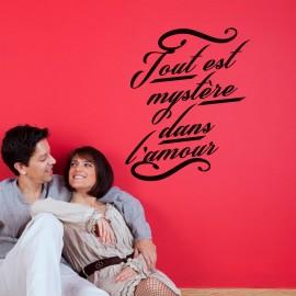 Sticker tout est mystère dans l'amour