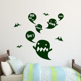 Sticker fantômes et chauve-souris
