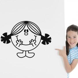 Sticker petite fille souriante