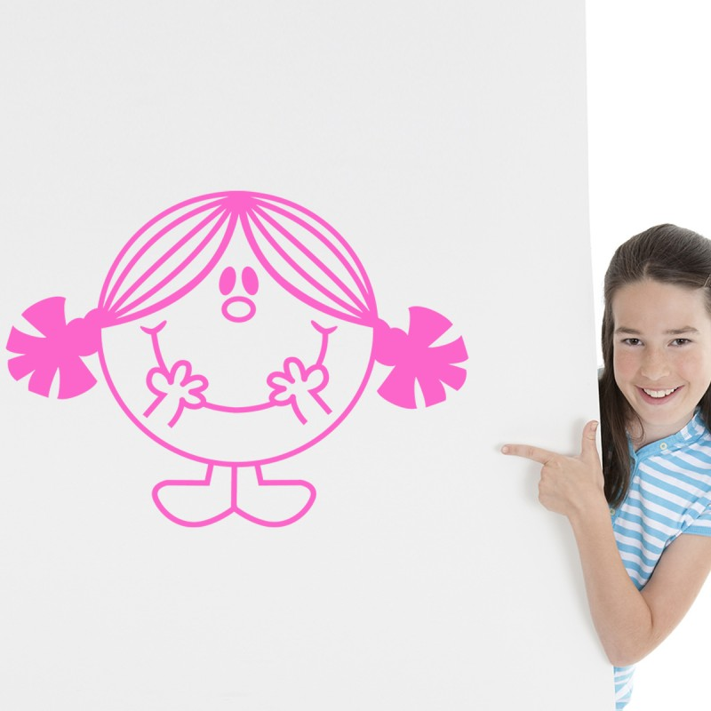 Sticker petite fille souriante - Stickers petite fille ...