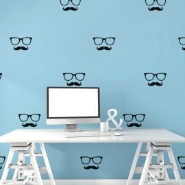 Sticker lunettes et moustaches
