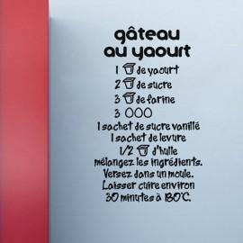 Sticker recette de gâteau au yaourt
