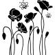 Sticker jolies abeilles sur des fleurs