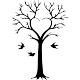 Sticker arbre en coeur et oiseaux