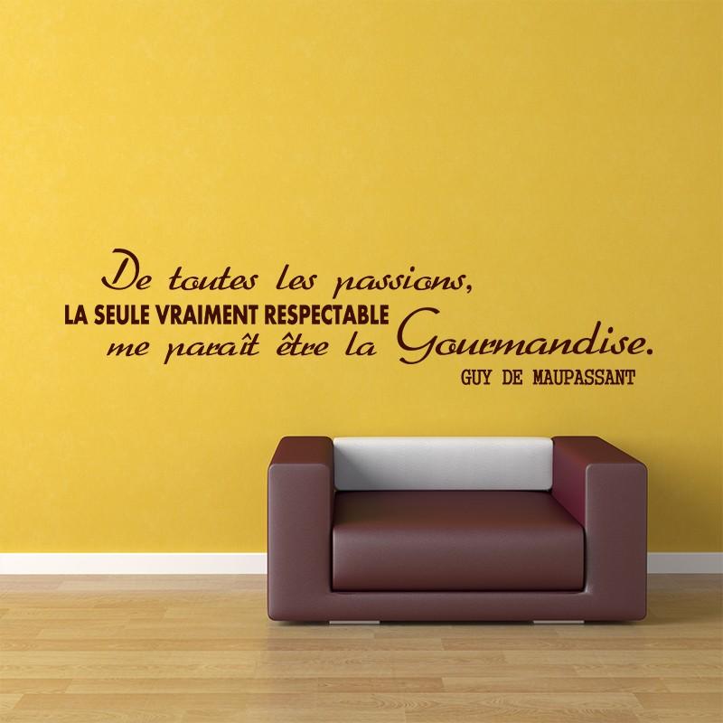 Sticker La Gourmandise De Guy De Maupassant Stickers