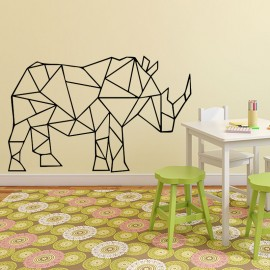 Sticker rhinocéros en origami