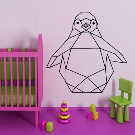 Sticker pingouin en origami