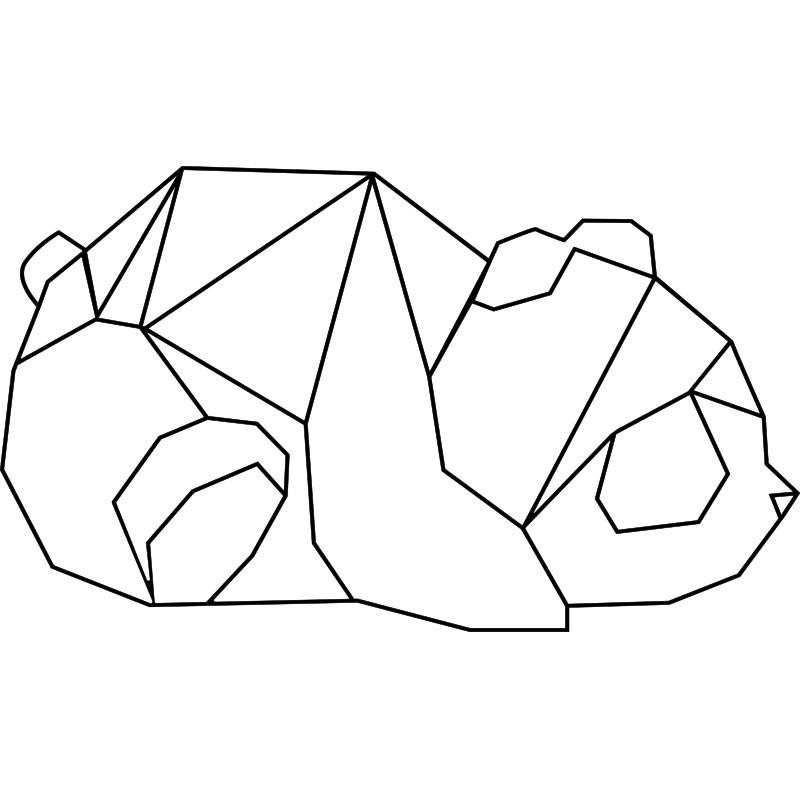sticker panda en origami