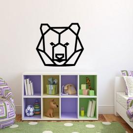 Sticker tête d'ours en origami