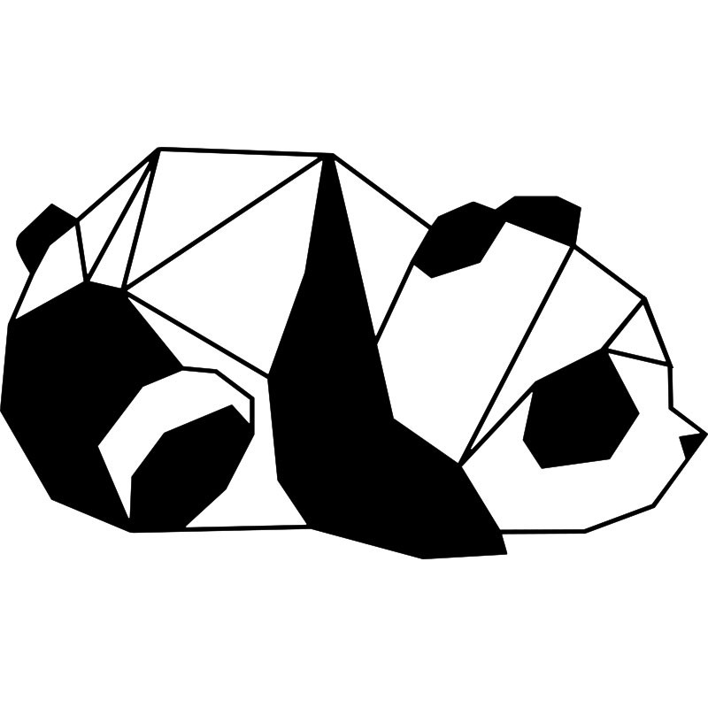 Sticker panda en origami 2 - Tete de panda dessin ...
