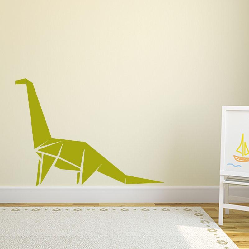 sticker dinosaure en origami. Black Bedroom Furniture Sets. Home Design Ideas