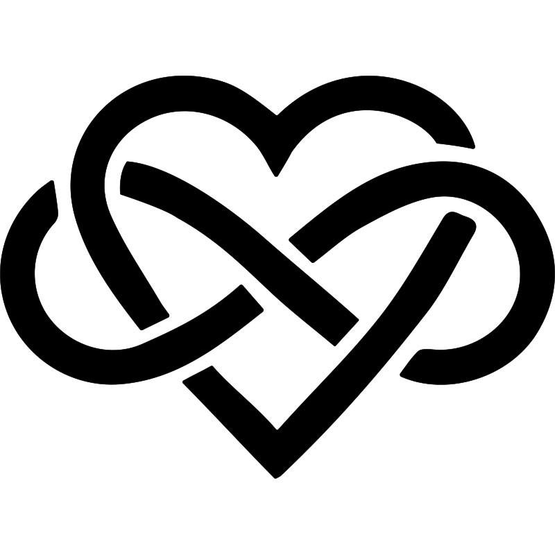 Sticker symbole amour infini - Clipart amour ...