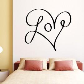Sticker love en coeur