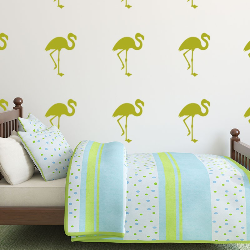 sticker flamants rose. Black Bedroom Furniture Sets. Home Design Ideas
