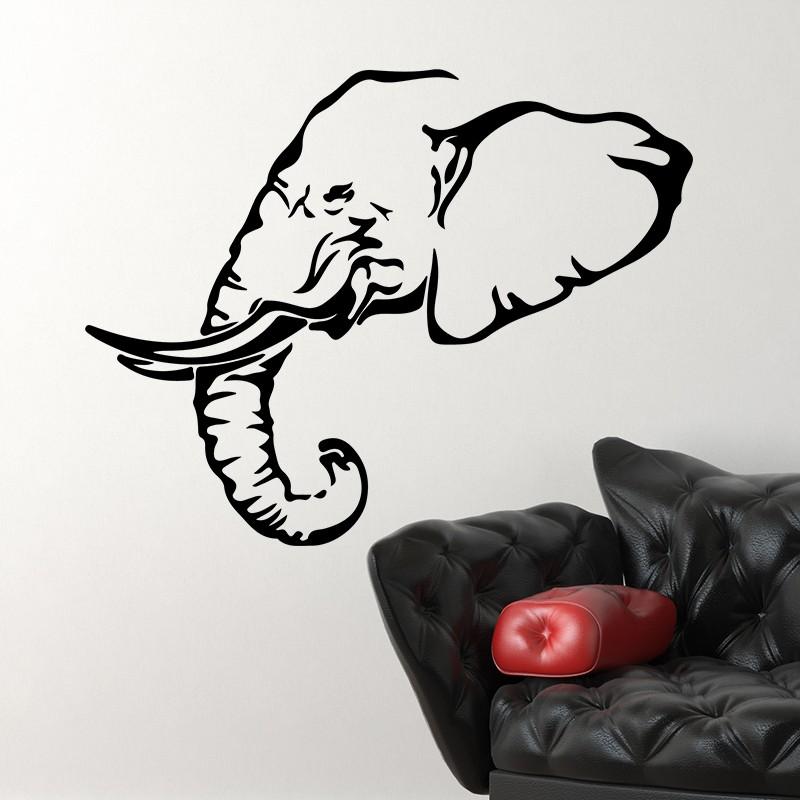 Dessin tete d elephant mon lphant est termin il ne reste plus quu dcorer la mare les oiseaux un - Tete d elephant mural ...