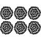 Sticker design fleurs